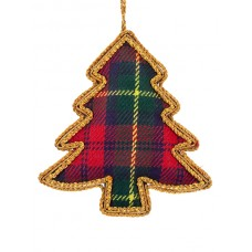 Tartan Tree  Christmas Ornament