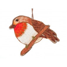 Silk Thread Robin  Christmas Decoration