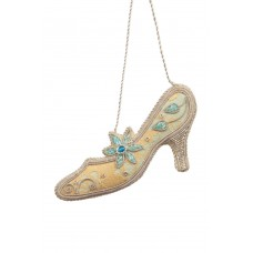 Pale Blue Prom Shoe Ornament