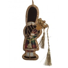 Gold Highland Piper Christmas Tree Ornament