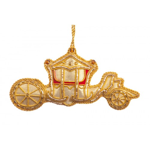 Gold Coach Christmas Tree Ornament