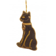 Egyptian Black Cat Christmas Decoration