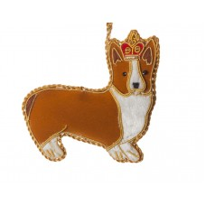 Royal Corgi Christmas Tree Ornament