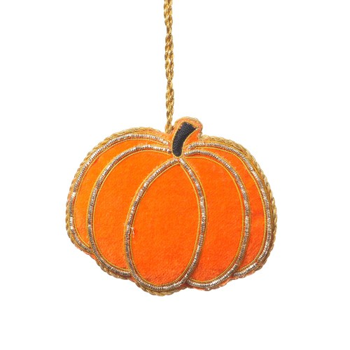 Velvet Pumpkin Ornament