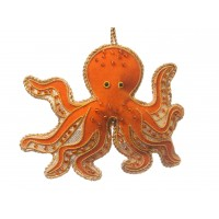Octopus Christmas Ornament