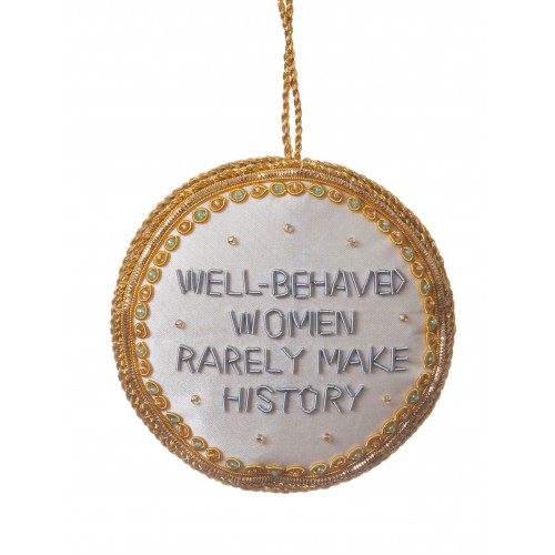 Well Behaved Women Roundel Christmas Tree Decoration